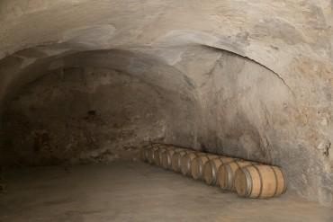 Barrels inside La Falaise