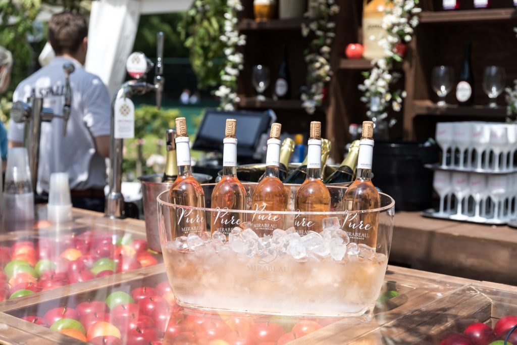 Mirabeau served during the Aspall Tennis Classic at the Hurlingham Club