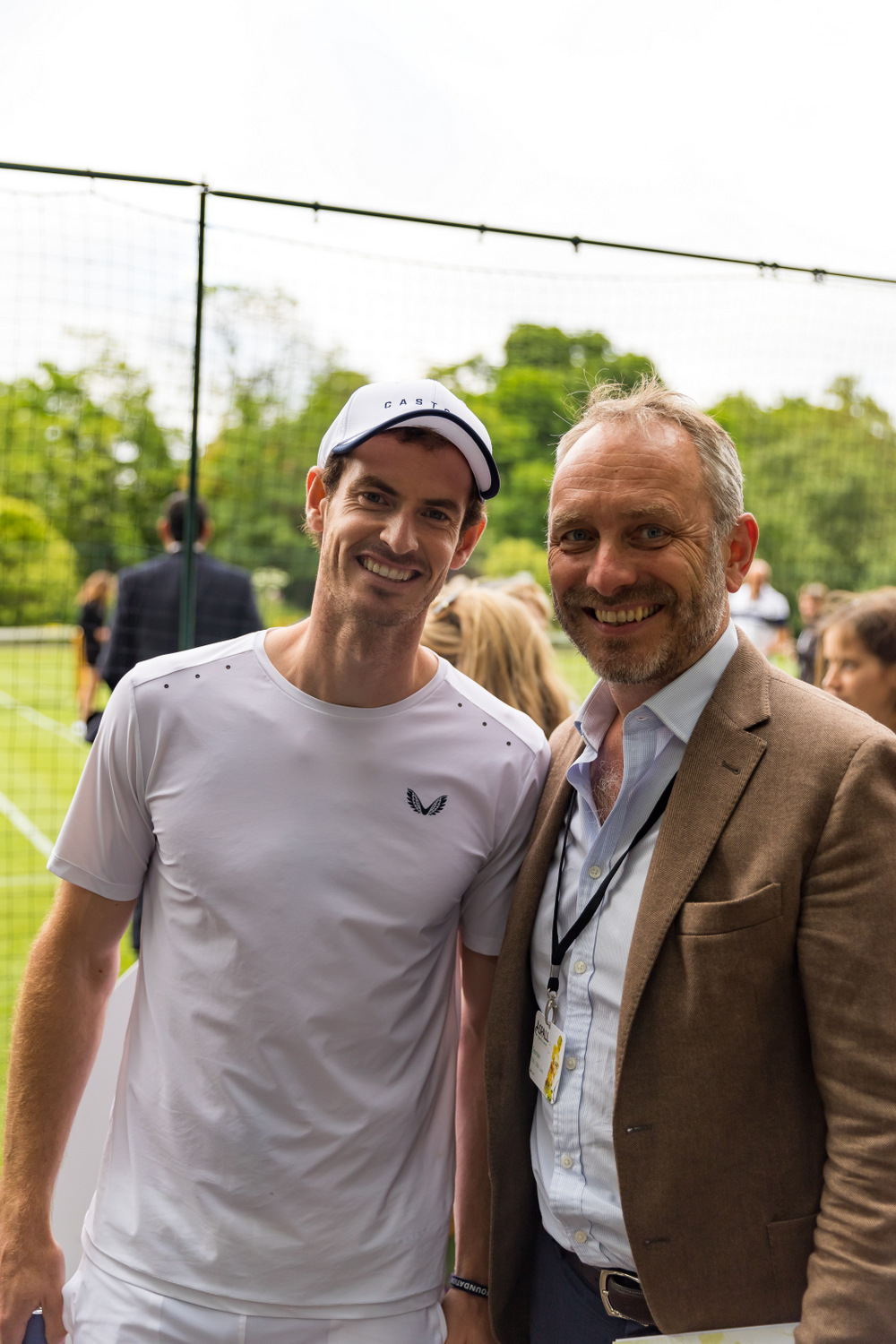 Mirabeau Founder Stephen Cronk with tennis legend Tim Henman