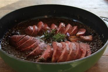 Duck breast & lentils