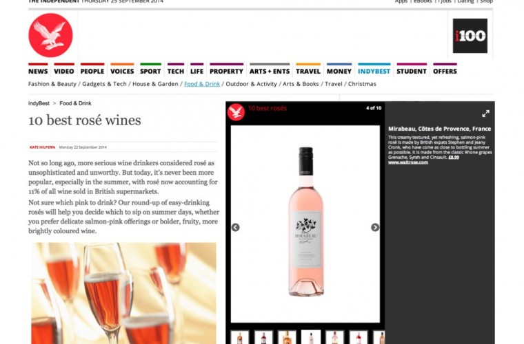 Mirabeau Provence Rosé Top 10 Independent