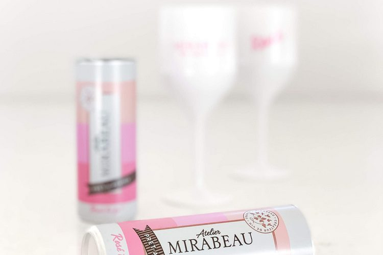 Atelier Mirabeau Pret-a-Porter Rosé to go wine in a can