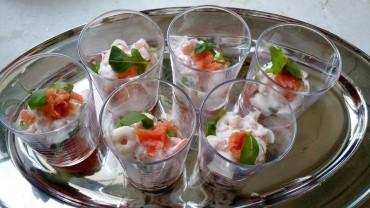 Salmon Shrimp starter 4