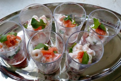 Salmon Shrimp starter 4