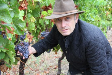 Stephen and vines in the rain
