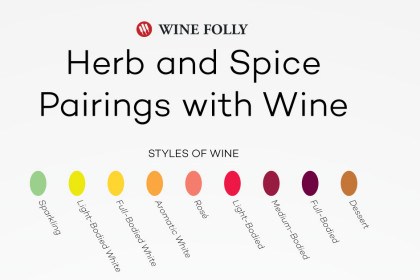 Wine Folly herb spice wine pairings