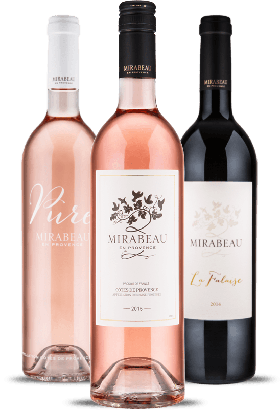 mirabeau red and rosé wine